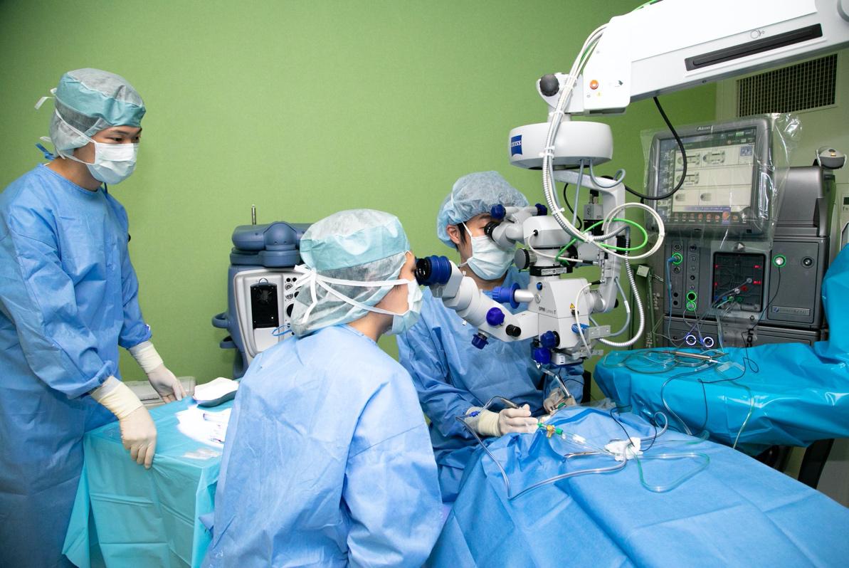 ⑥日帰り手術・硝子体注射は、滅菌体制を徹底した今川内の手術室で